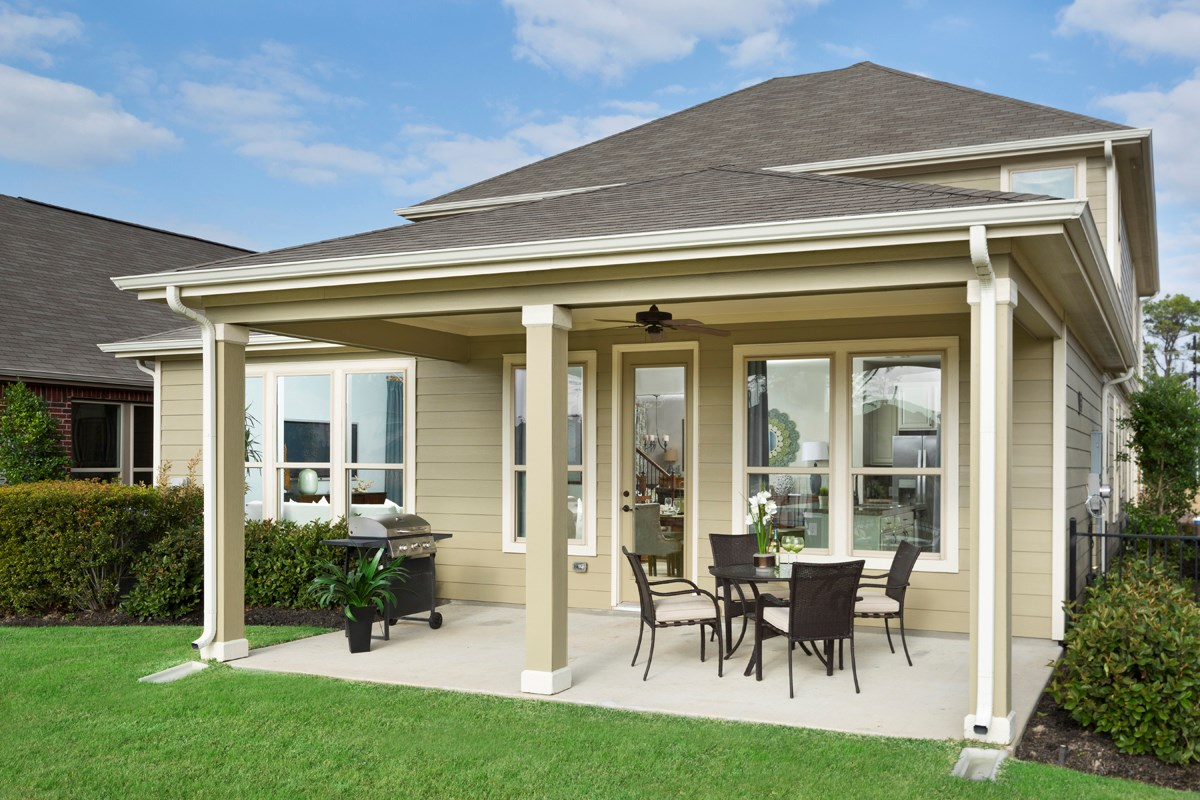 New Homes in Houston, TX - Cypress Creek Crossing Plan 2526 Back Patio