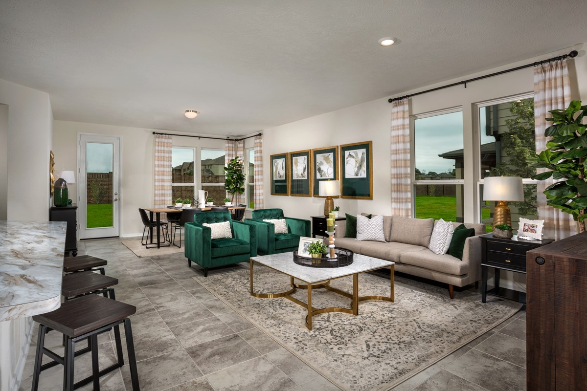 New Homes in Houston, TX - Cypress Creek Landing Plan 1889 Great Room