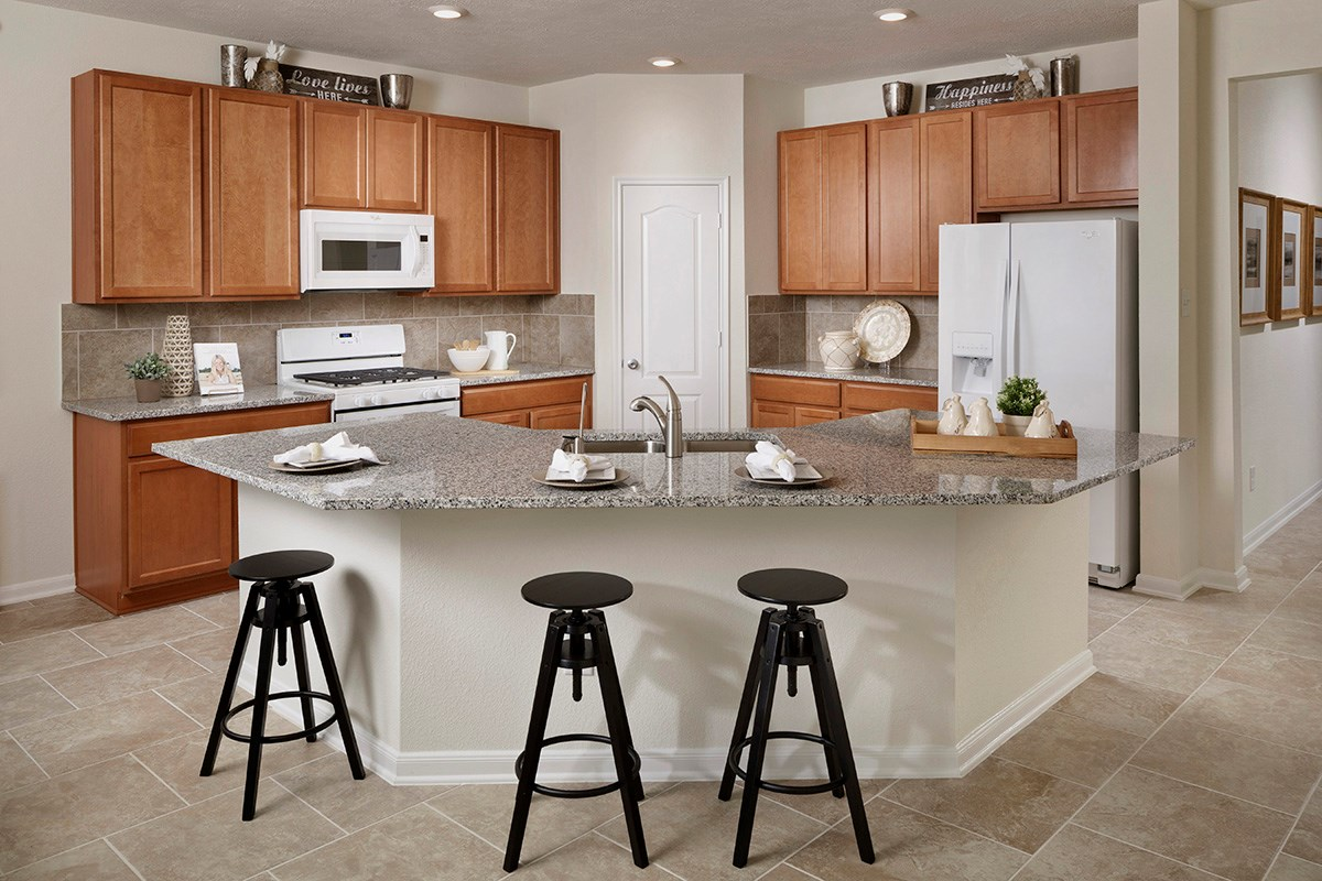 New Homes in Katy, TX - Katy Manor Preserve Plan 2130 Kitchen