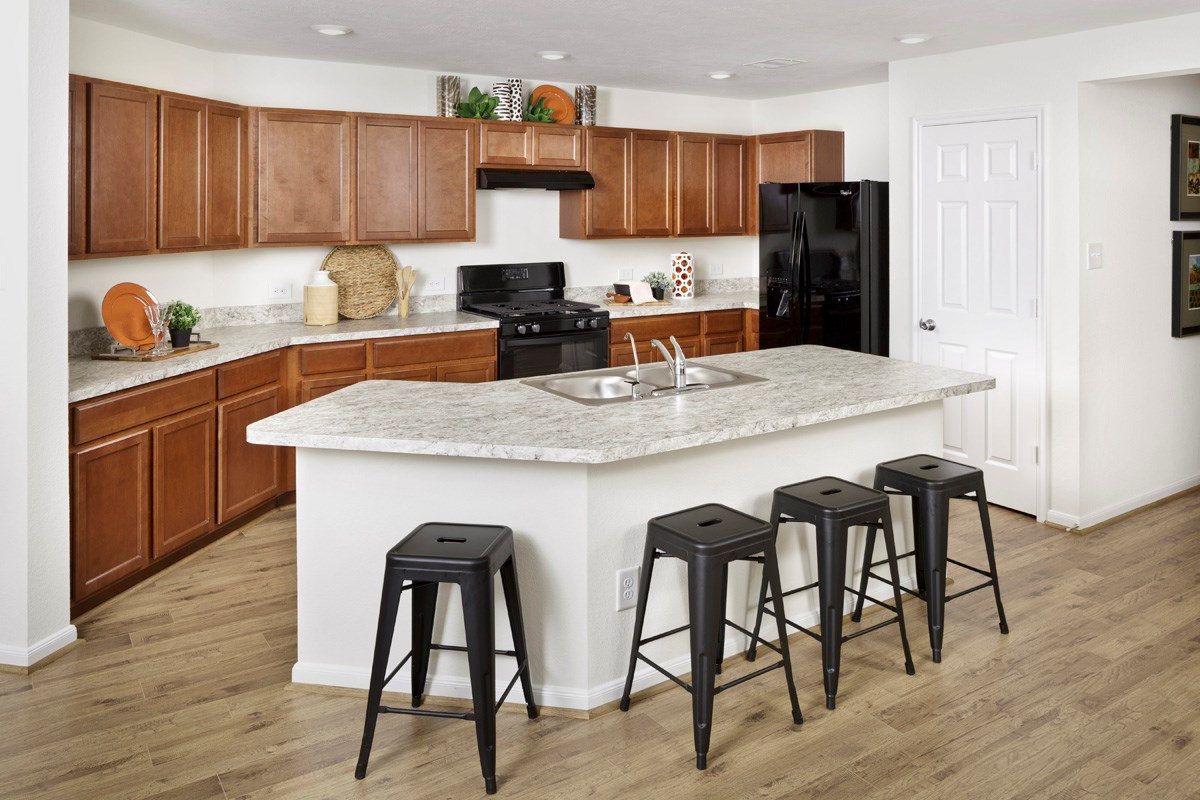New Homes in Katy, TX - Katy Manor Trails Plan 1585 Kitchen