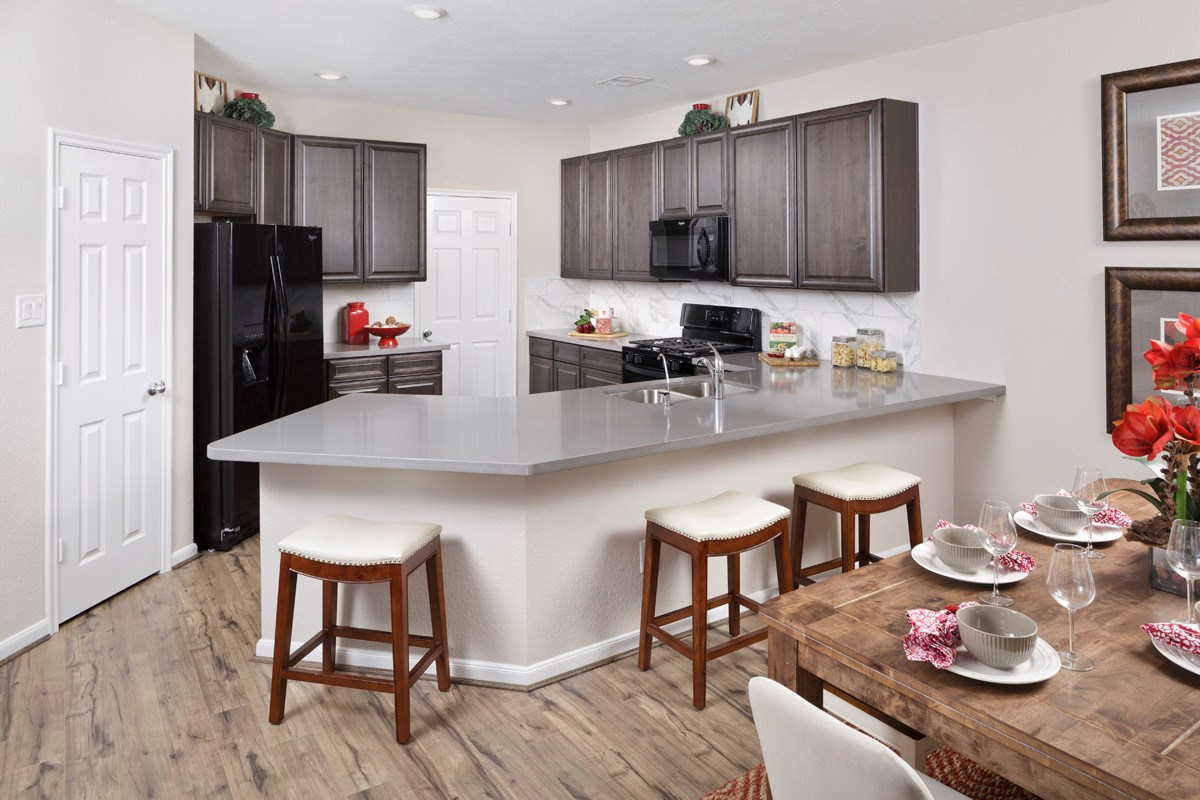 New Homes in Katy, TX - Katy Manor Trails Plan 1864 Kitchen