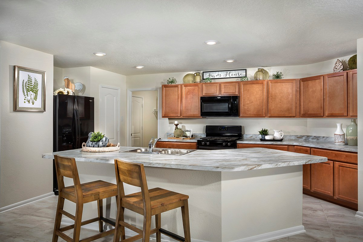 New Homes in Houston, TX - Lakewood Pines Preserve Plan 1785 Kitchen