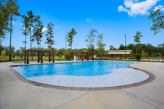 Amenity pool at a KB Home community in Houston, TX