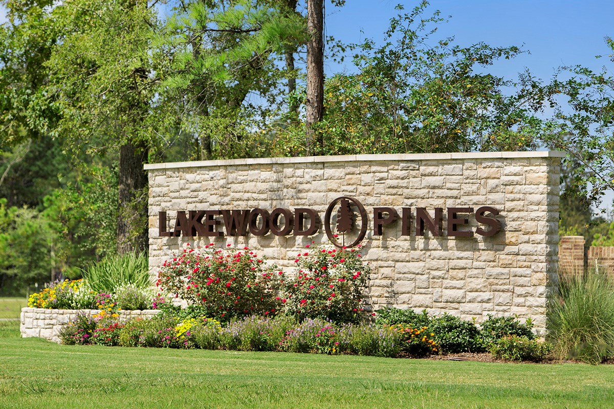 New Homes in Houston, TX - Lakewood Pines Preserve Community Entrance