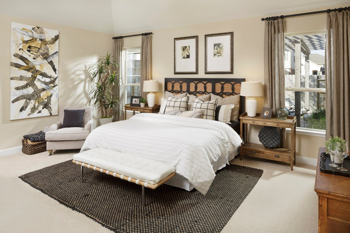 New Homes in Houston, TX - Lakewood Pines Preserve Plan 2130 Master Bedroom