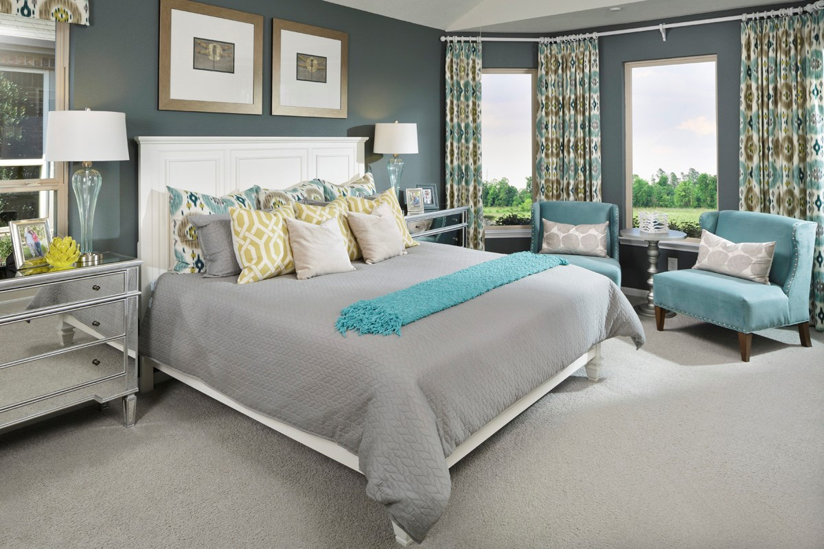 New Homes in Houston, TX - Lakewood Pines Preserve Plan 2715 Master Bedroom