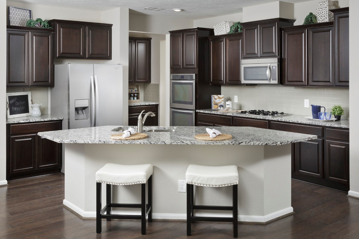 New Homes in Houston, TX - Lakewood Pines Preserve Plan 2936 Kitchen