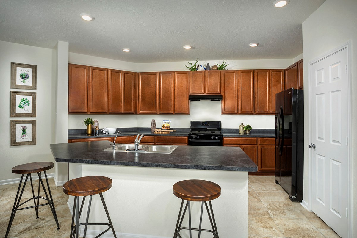 New Homes in Houston, TX - Lakewood Pines Trails  Plan 1585 Kitchen