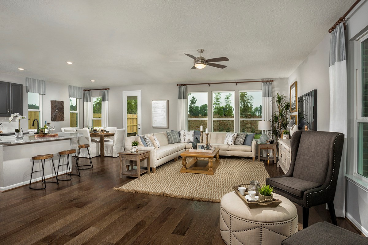 New Homes in Houston, TX - Lakewood Pines Trails  Plan 2646 Great Room