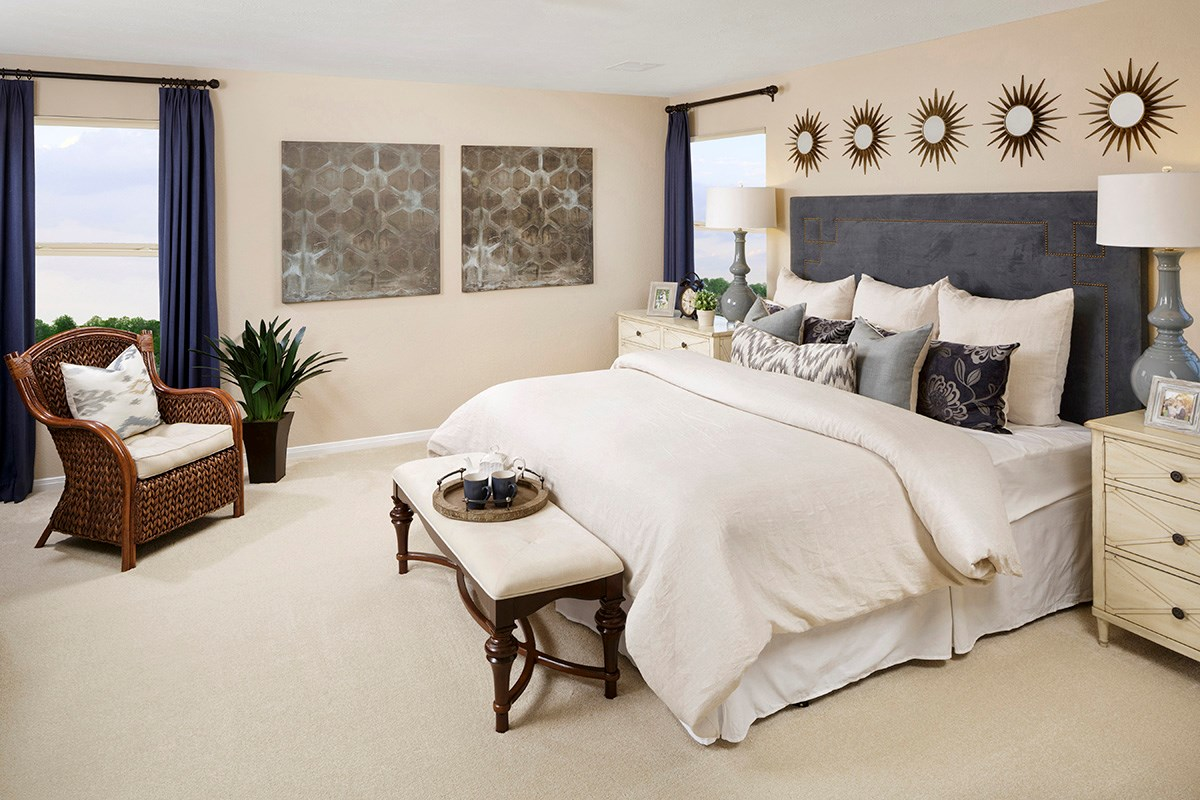 New Homes in Cypress, TX - Lancaster Square Plan 2825 Master Bedroom