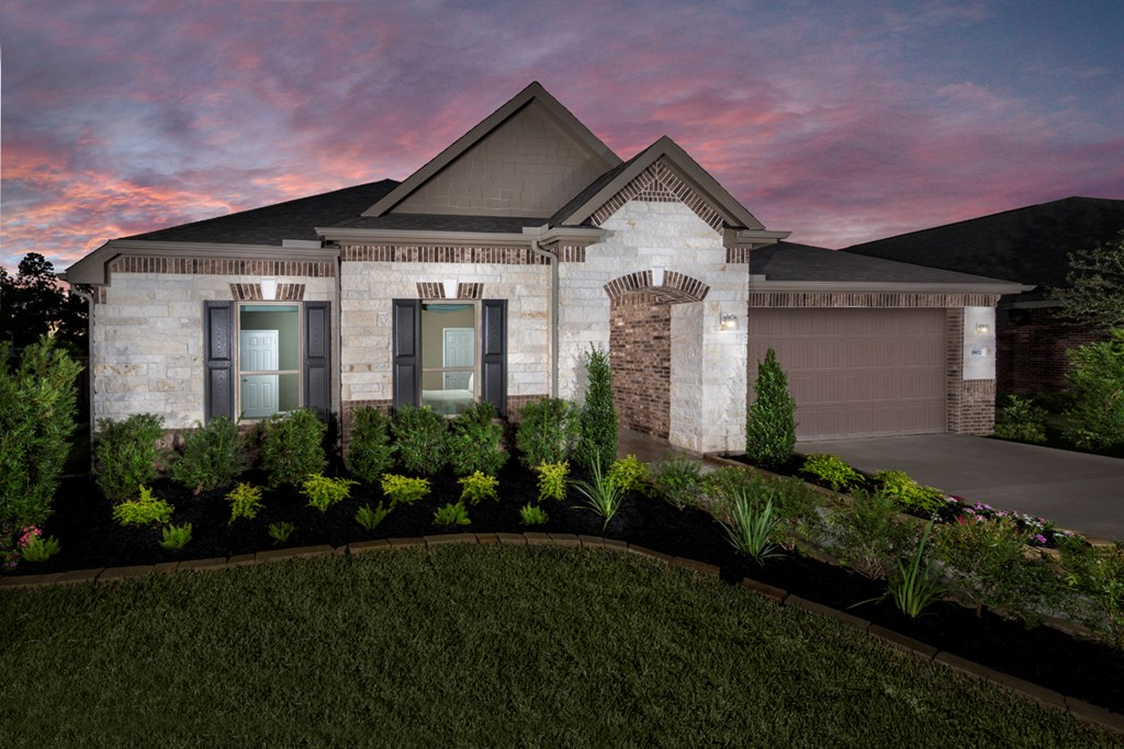 KB model home in Humble, TX