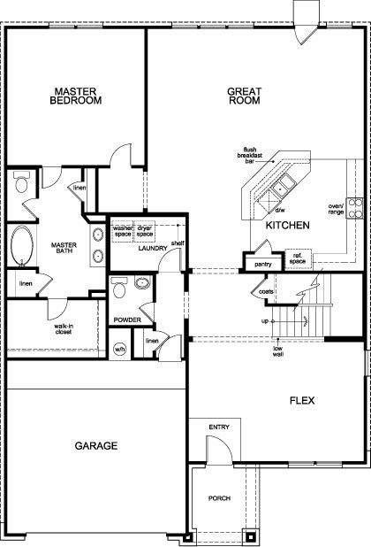 New Homes in Humble, TX - Plan 2932, First Floor