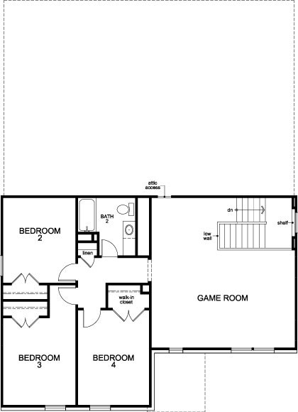 New Homes in Humble, TX - Plan 2932, Second Floor