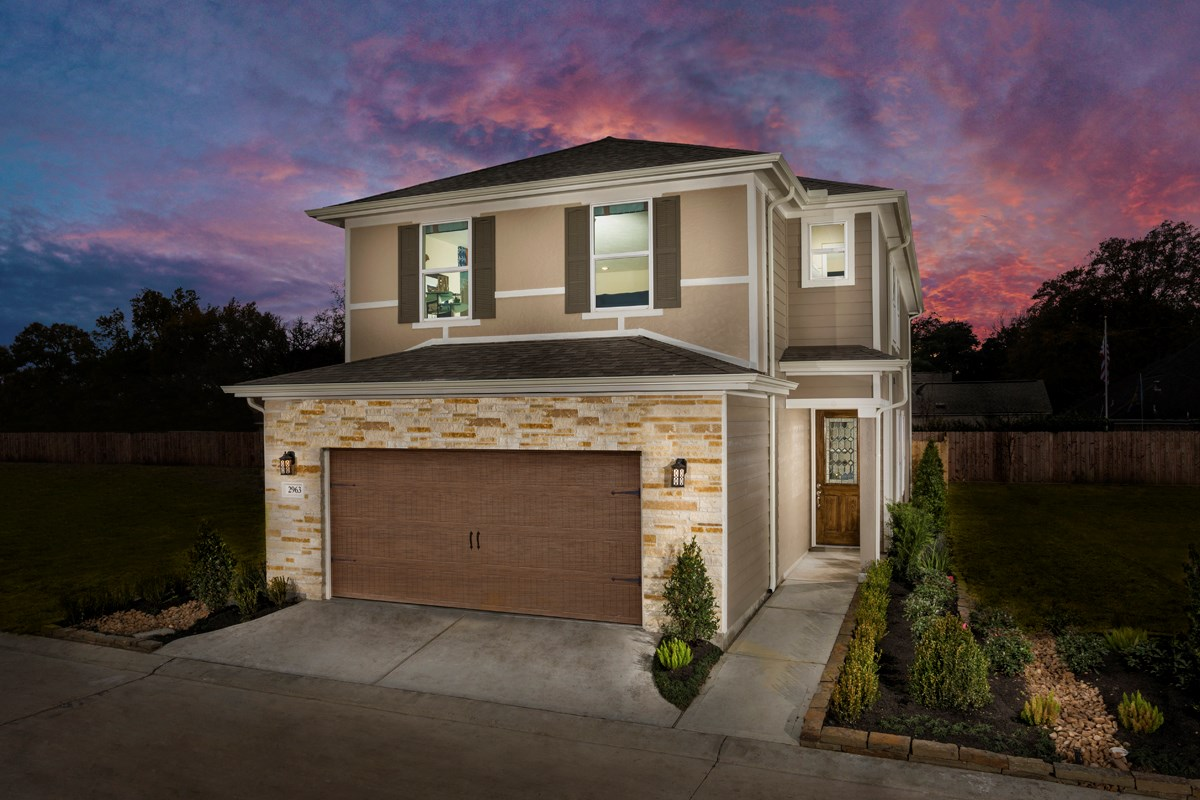 New Homes in Houston, TX - Villas at Spring Shadows Plan 2080