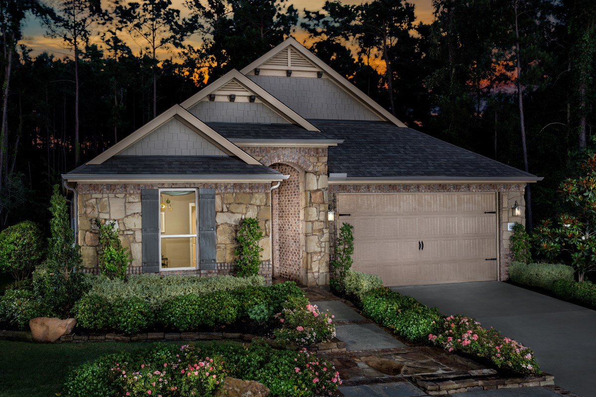 New Homes in Conroe, TX - Wedgewood Falls Preserve Plan 2130