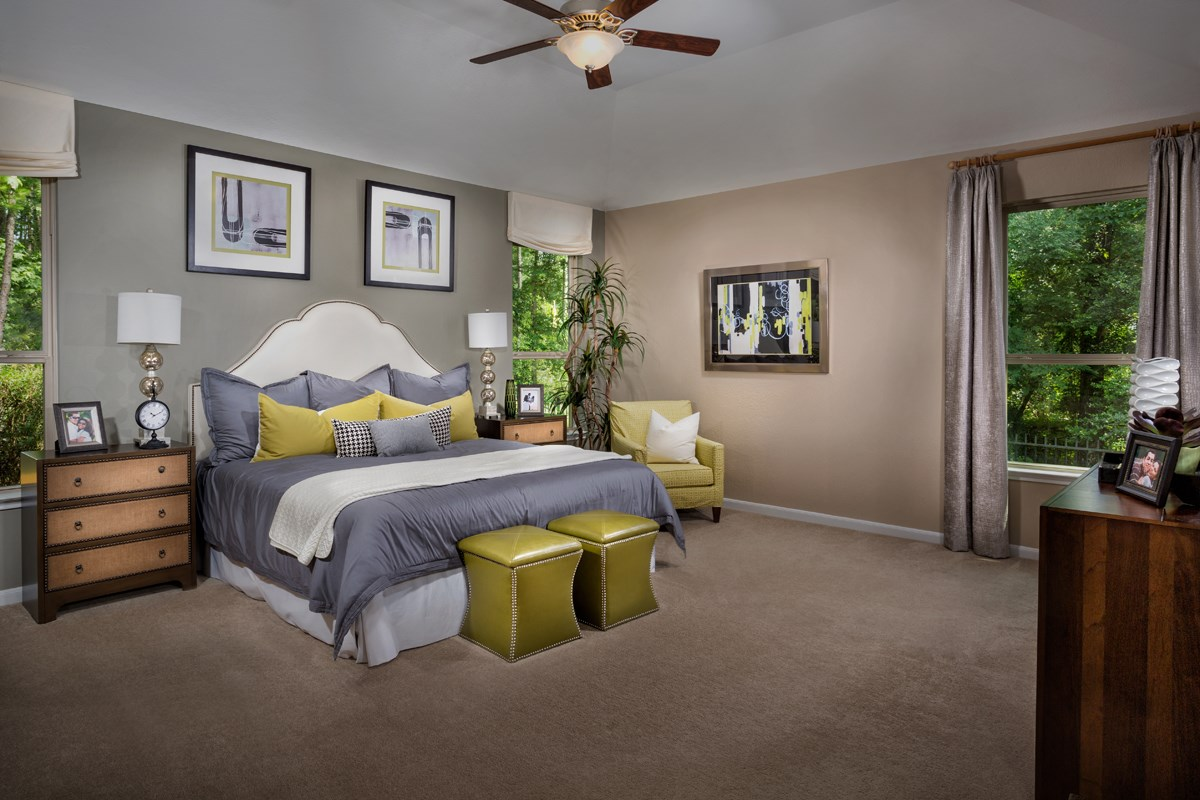 New Homes in Conroe, TX - Wedgewood Falls Preserve Plan 2130 Master Bedroom