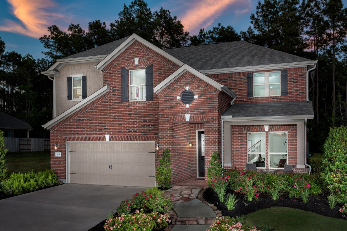 New Homes in Conroe, TX - Wedgewood Falls Preserve Plan 2715