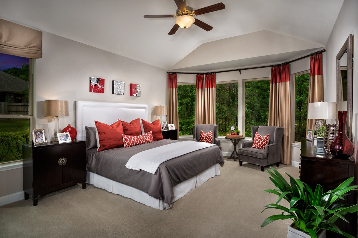 New Homes in Conroe, TX - Wedgewood Falls Preserve Plan 2715 Master Bedroom