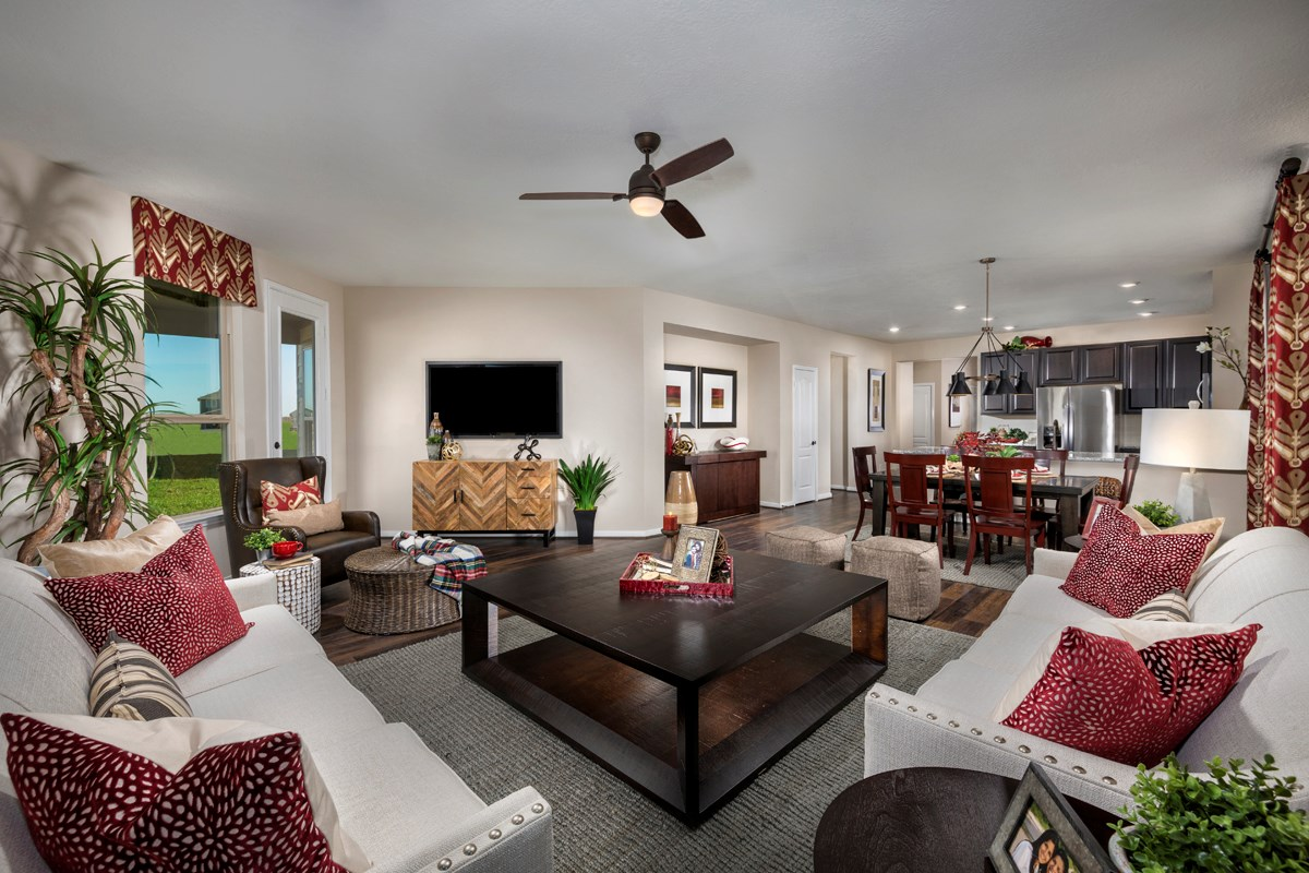 New Homes in Katy, TX - The Meadows at Westfield Village Plan 1944 Great Room