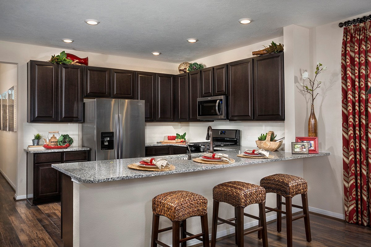 New Homes in Katy, TX - The Meadows at Westfield Village Plan 1944 Kitchen