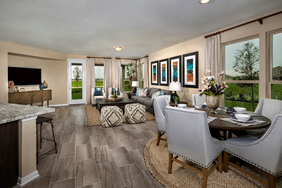 New Homes in Katy, TX - The Meadows at Westfield Village Plan 2526 Great Room
