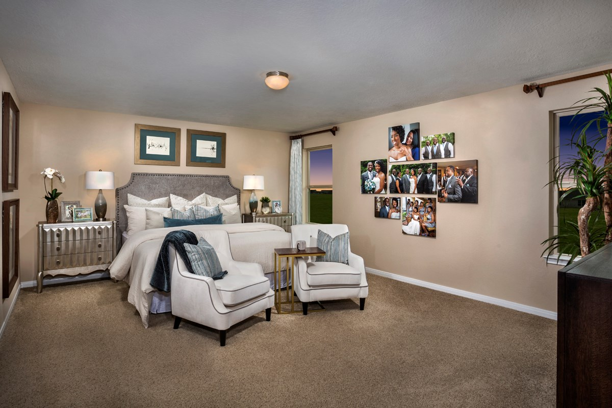 New Homes in Katy, TX - The Meadows at Westfield Village Plan 2526 Master Suite