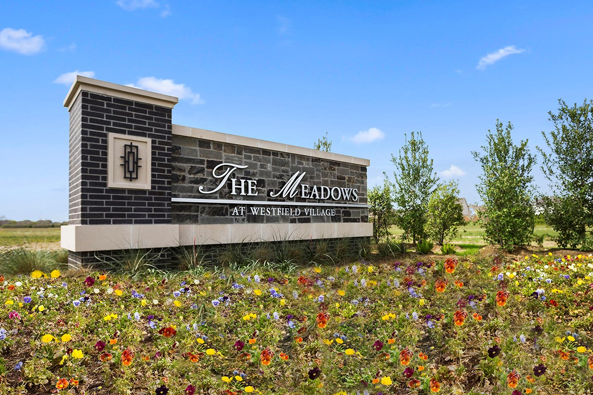 New Homes in Katy, TX - The Meadows at Westfield Village Community Entrance