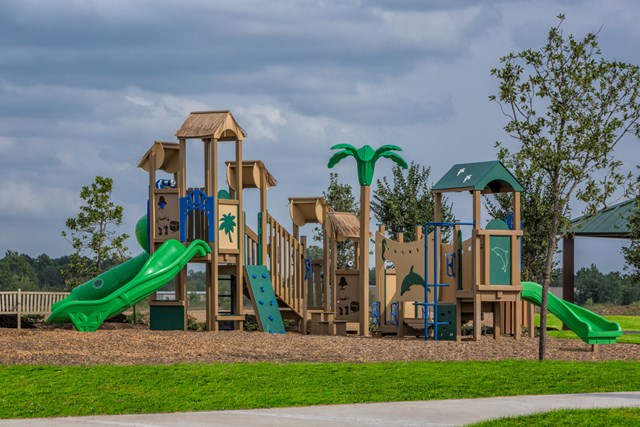 Amenity park at a KB Home community in Houston, TX
