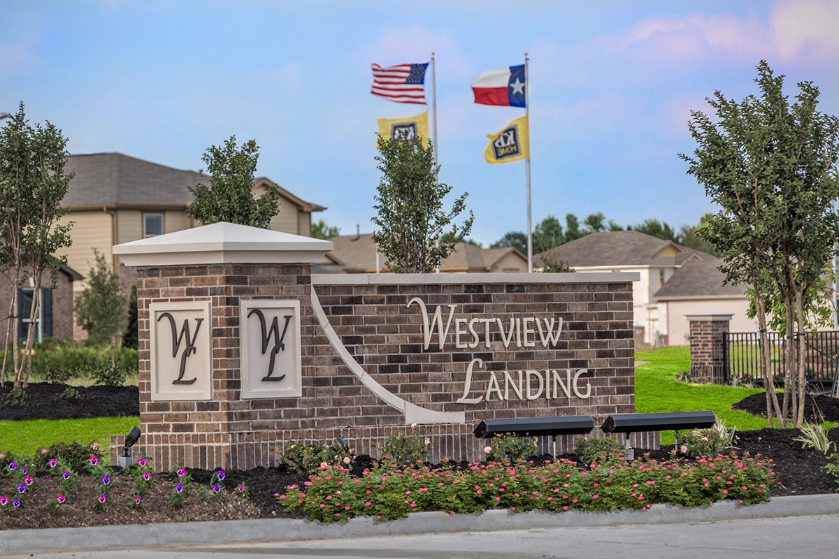New Homes in Houston, TX - Westview Landing Entry Monument
