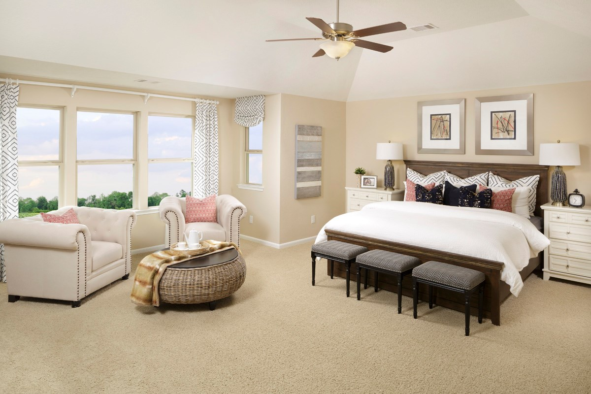 New Homes in Richmond, TX - Williams Ranch Preserve Plan 2936 Master Bedroom