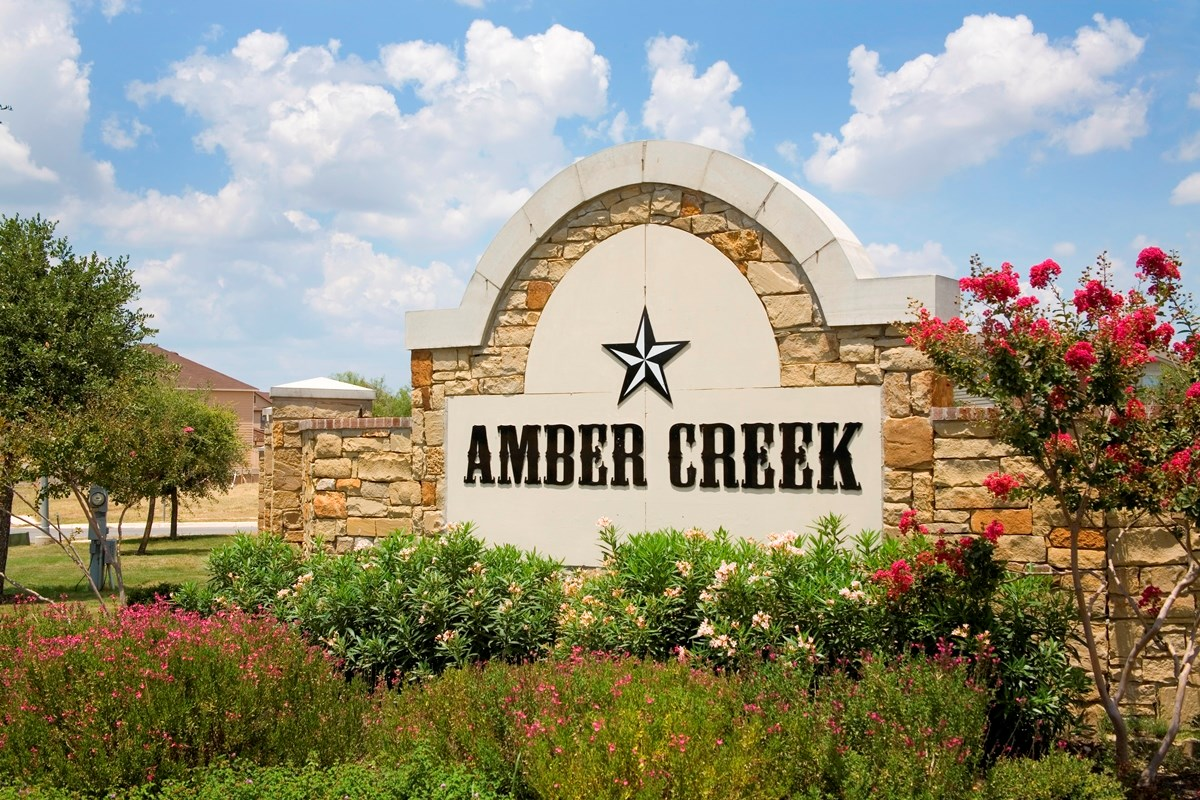New Homes in San Antonio, TX - Amber Creek Amber Creek Community Entry
