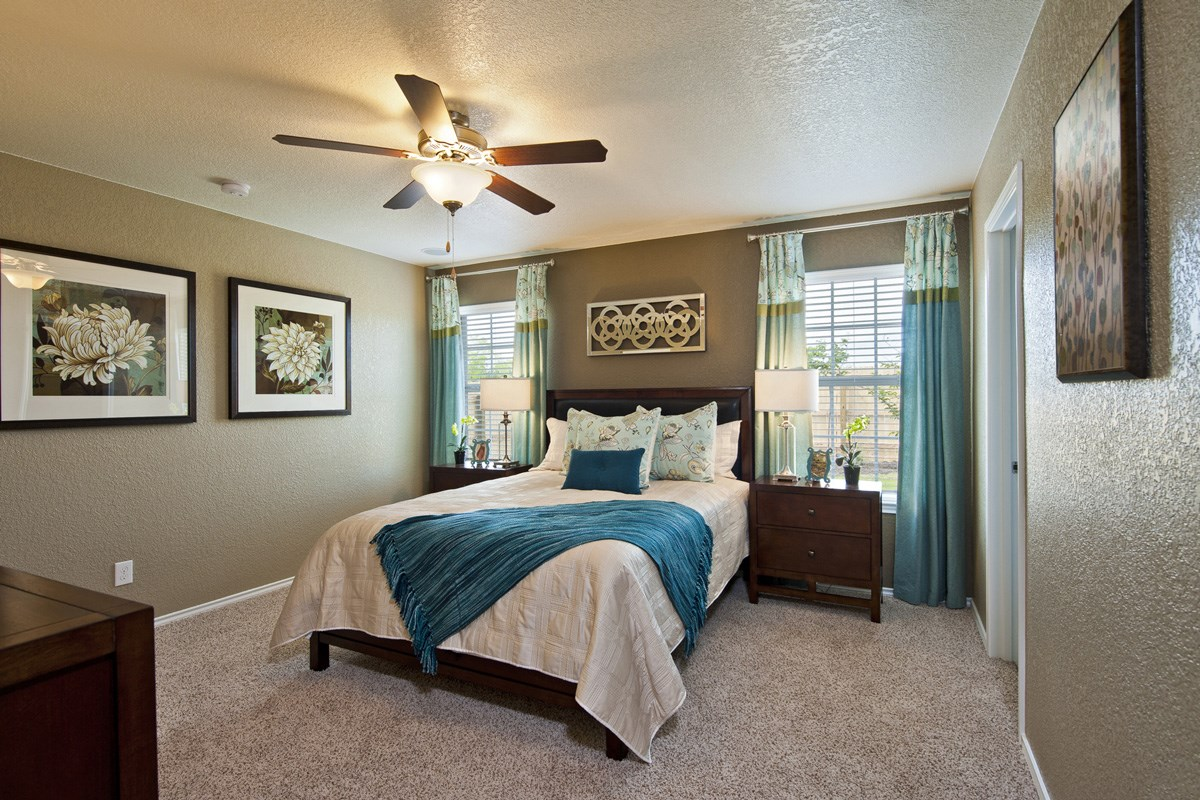 New Homes in San Antonio, TX - Amber Creek The 1340 Master Bedroom