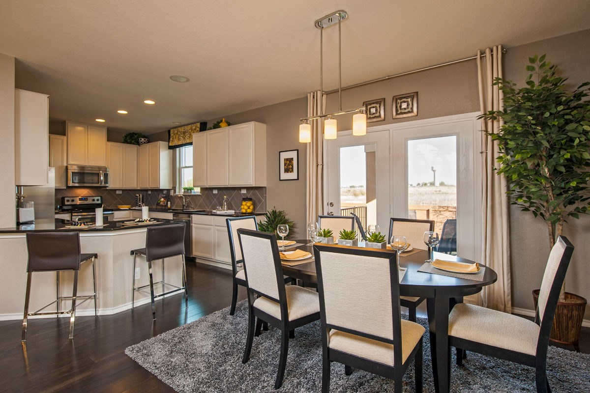 New Homes in New Braunfels, TX - Legend Point The 1909 Dining and Kitchen