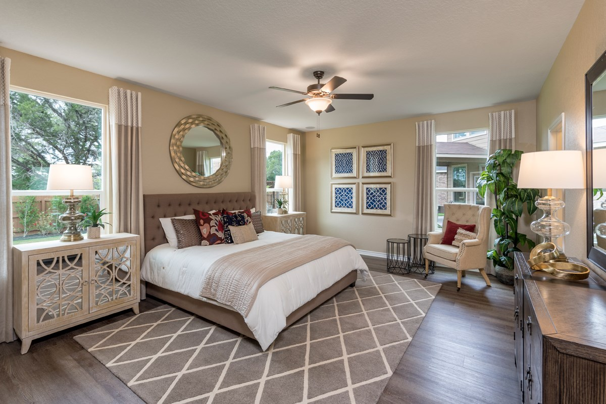 New Homes in San Antonio, TX - Canyon Crest The 3417 Master Bedroom