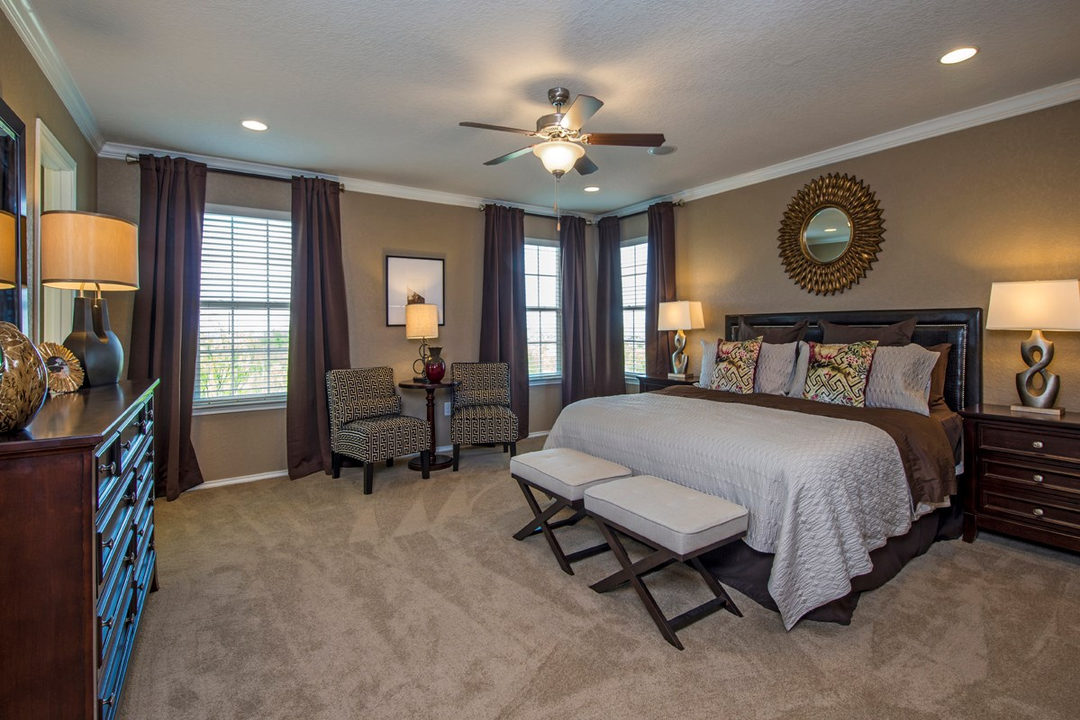 New Homes in San Antonio, TX - The Vistas of Carmona Hills The 2408 Master Bedroom