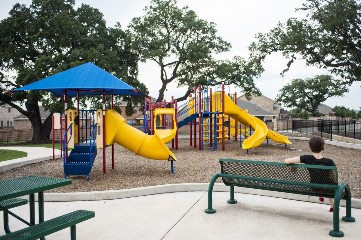 New Homes in San Antonio, TX - The Oaks at Cobblestone Community playscape