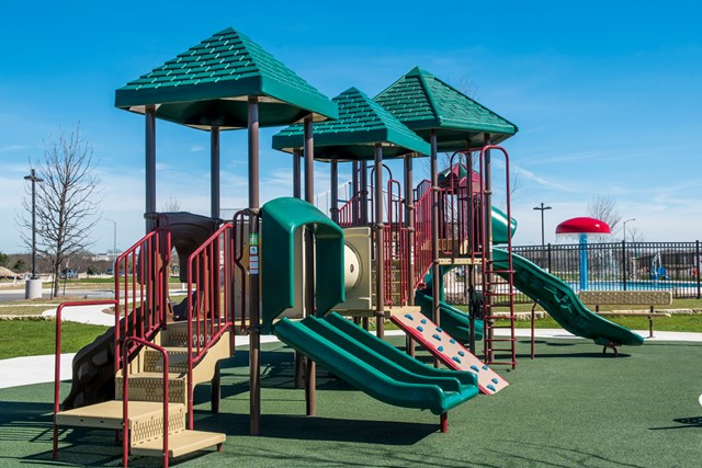 Amenity park at a KB Home community in Universal City, TX