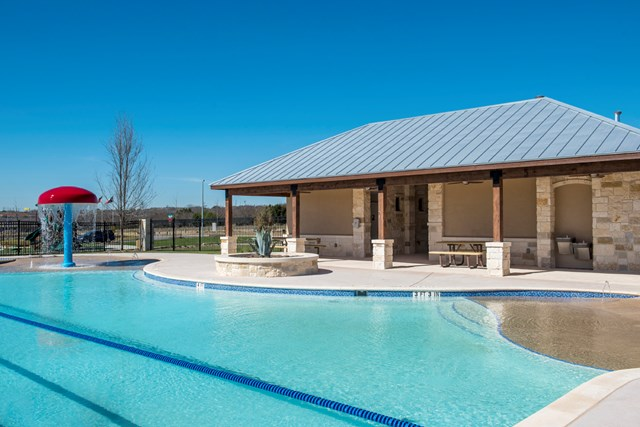 Amenity pool at a KB Home community in Universal City, TX