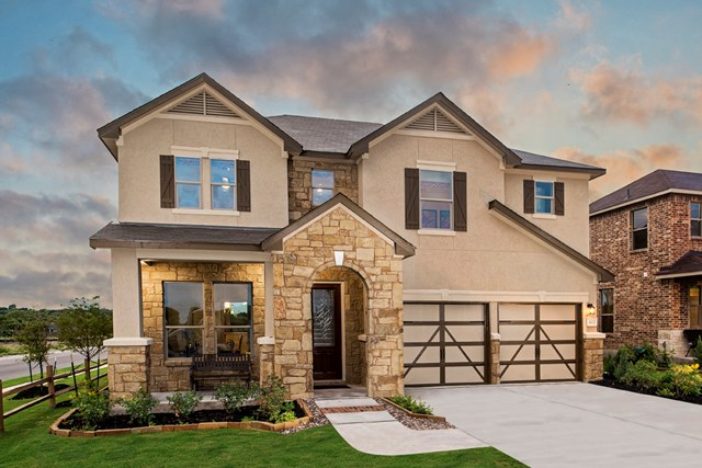 KB model home in Universal City, TX