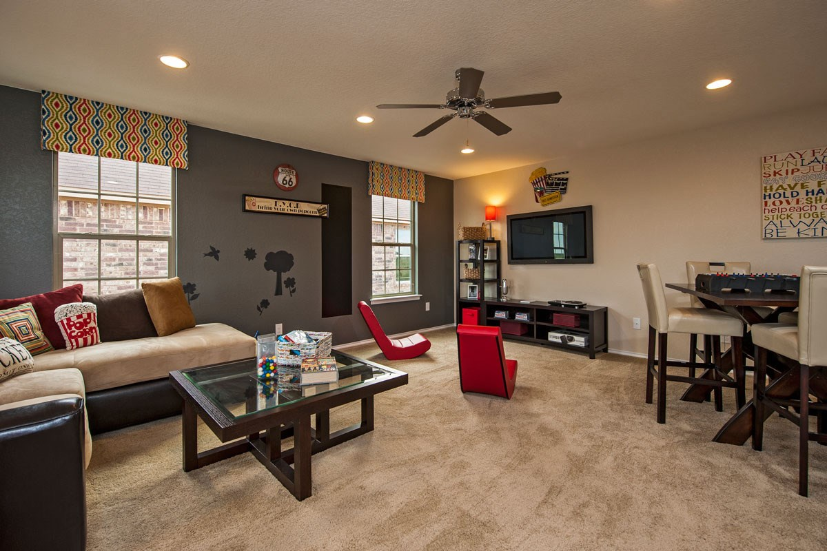 New Homes in Converse, TX - Heights of Copperfield The 2502 Game Room