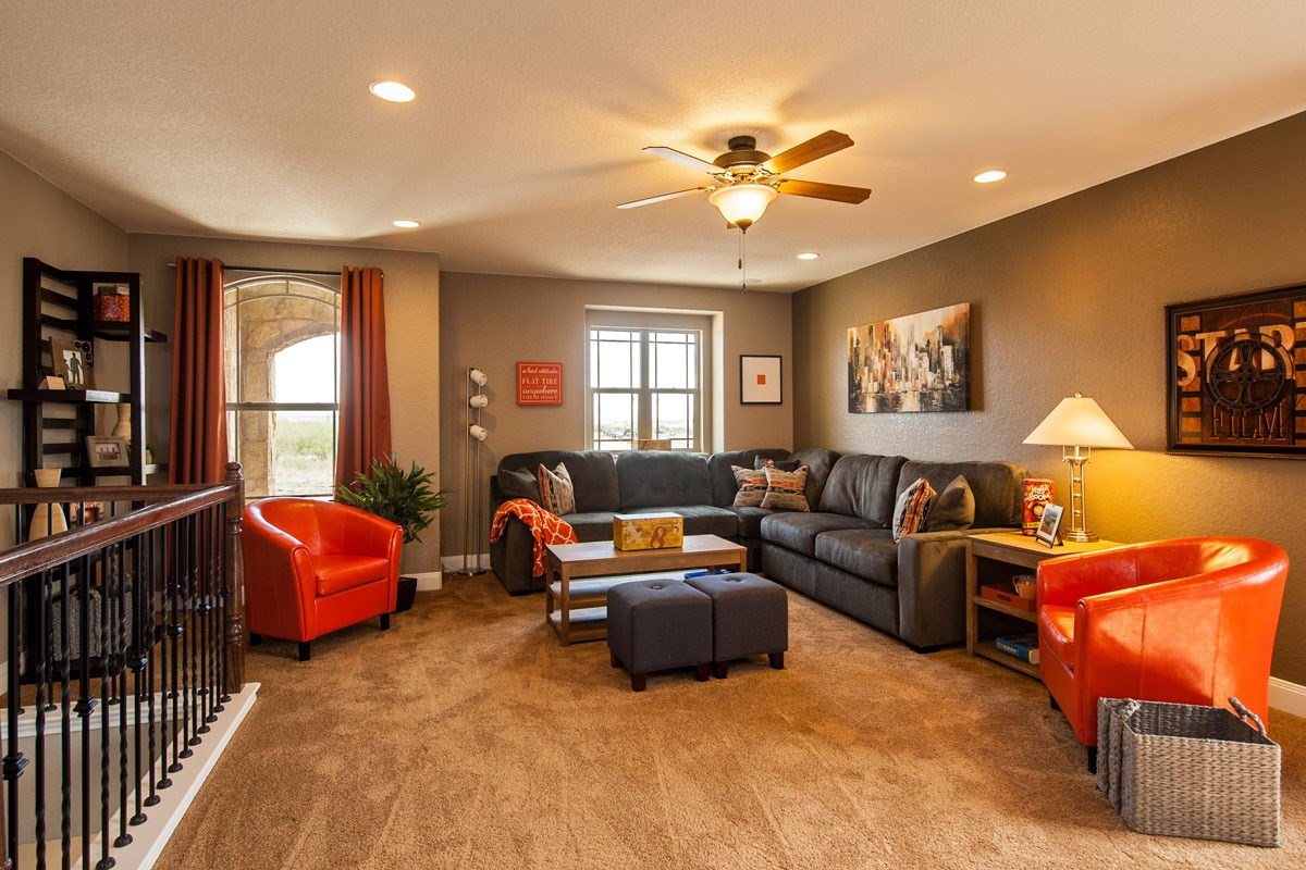 New Homes in Converse, TX - Heights of Copperfield The 2755 Game Room