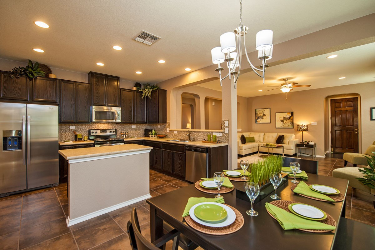 New Homes in Converse, TX - Heights of Copperfield The 1710 Kitchen