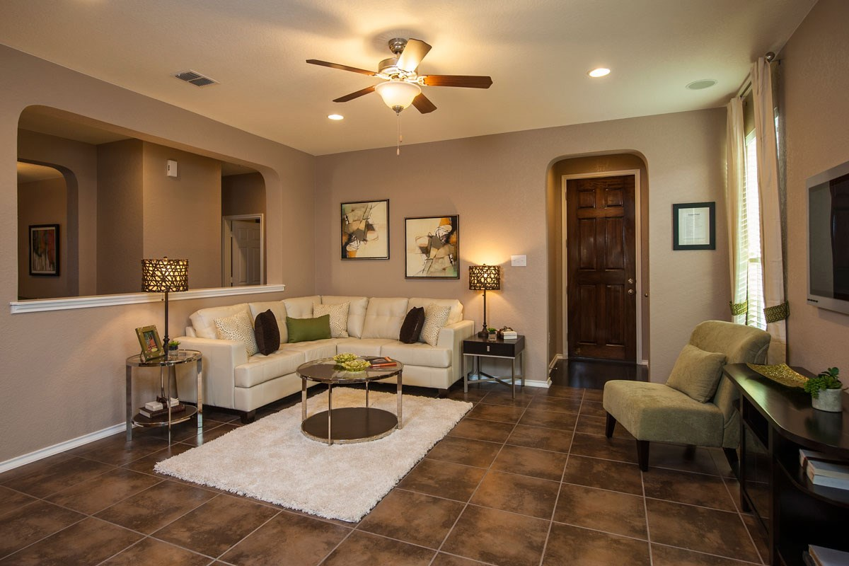 New Homes in Converse, TX - Heights of Copperfield The 1710 Living Room