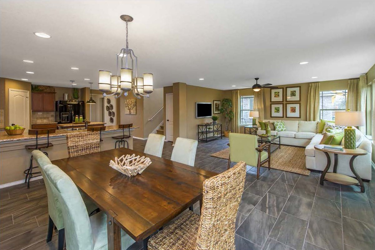 New Homes in San Antonio, TX - CrossCreek - Sterling & Heritage Collections The 2411 Great Room