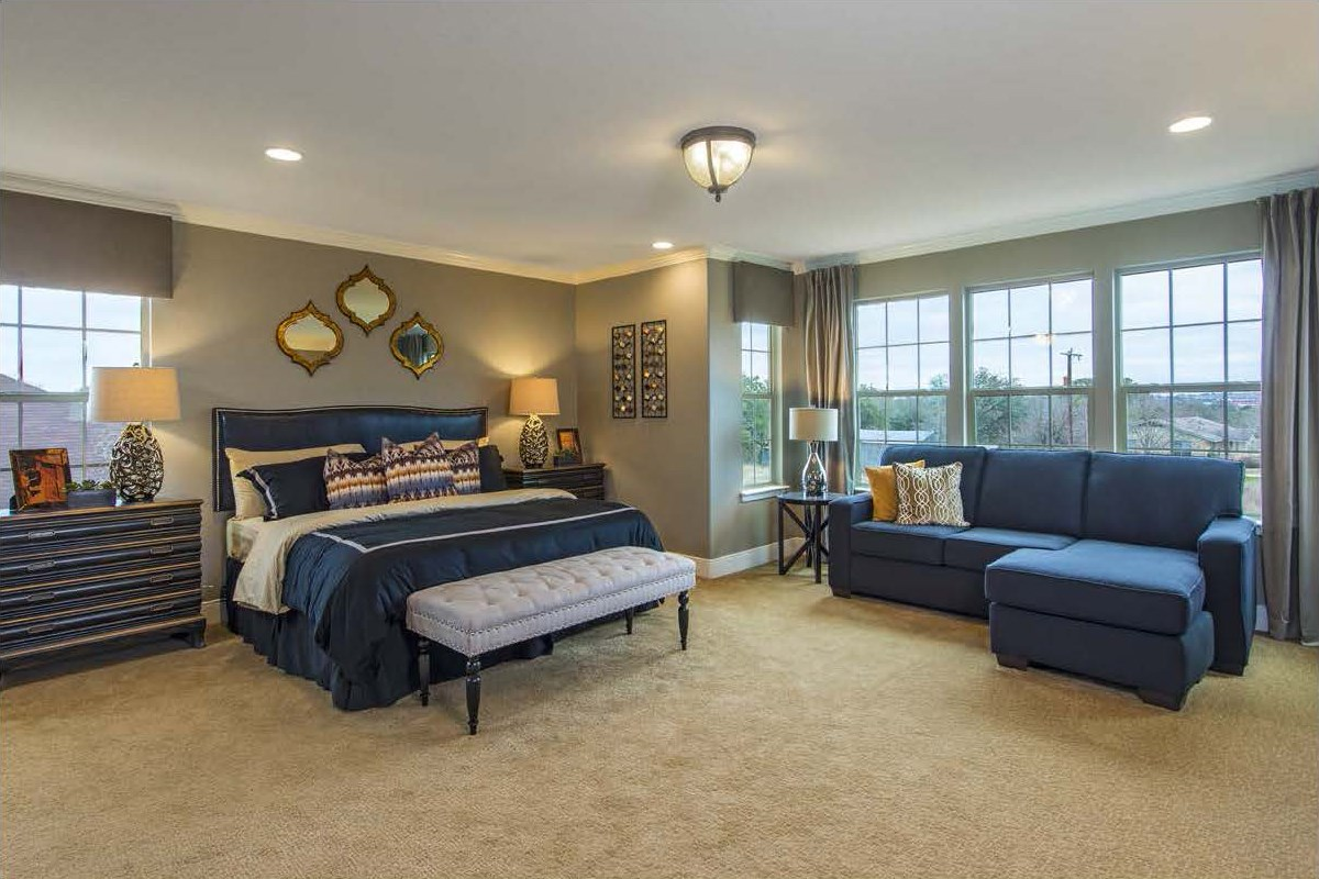 New Homes in San Antonio, TX - CrossCreek - Classic Collection The 3475 Master Bedroom
