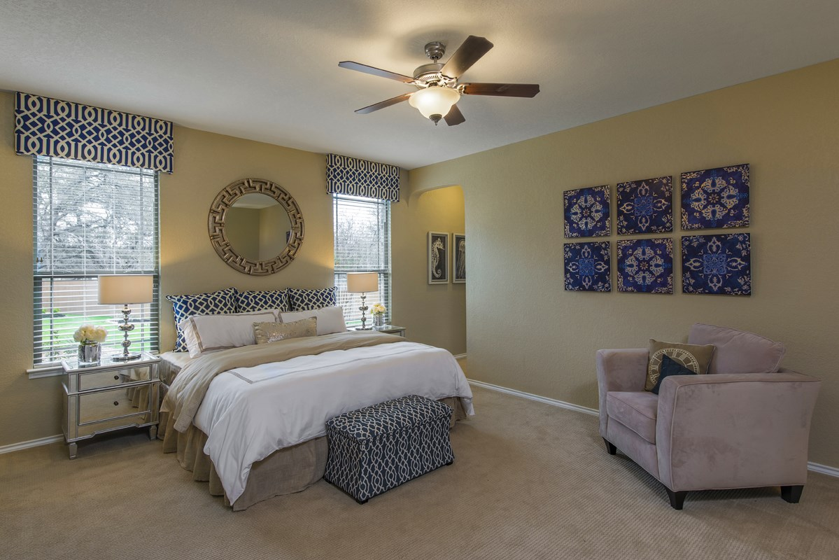 New Homes in San Antonio, TX - CrossCreek - Classic Collection The 2382 Master Bedroom
