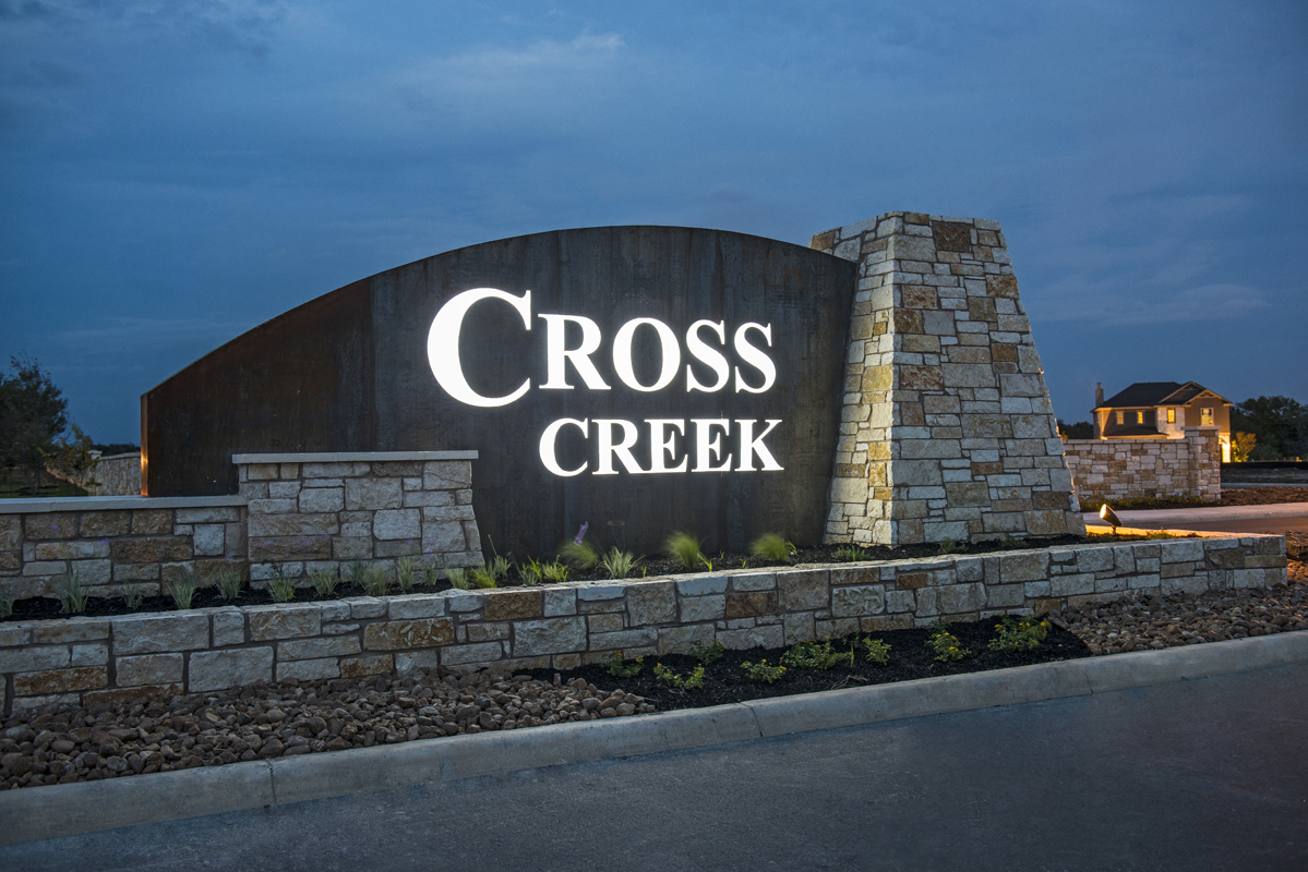 New Homes in San Antonio, TX - CrossCreek - Sterling Collection Community Entry