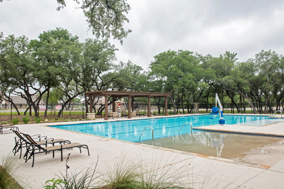 New Homes in San Antonio, TX - CrossCreek - Sterling & Heritage Collections Community Pool