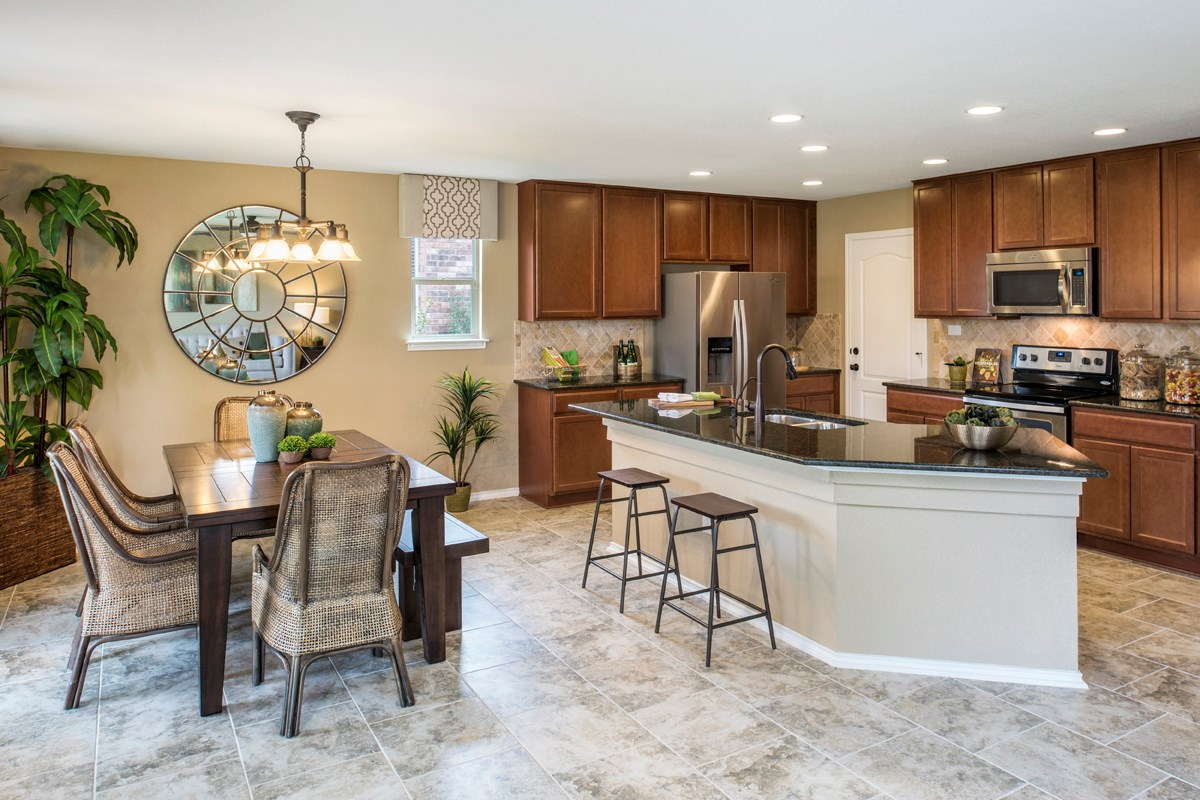 New Homes in San Antonio, TX - Dove Creek The 2403 Dining Room & Kitchen