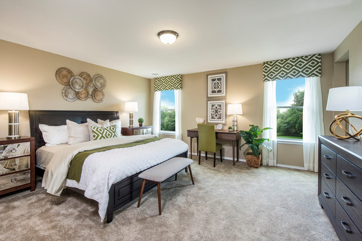 New Homes in San Antonio, TX - Dove Creek The 2403 Master Bedroom